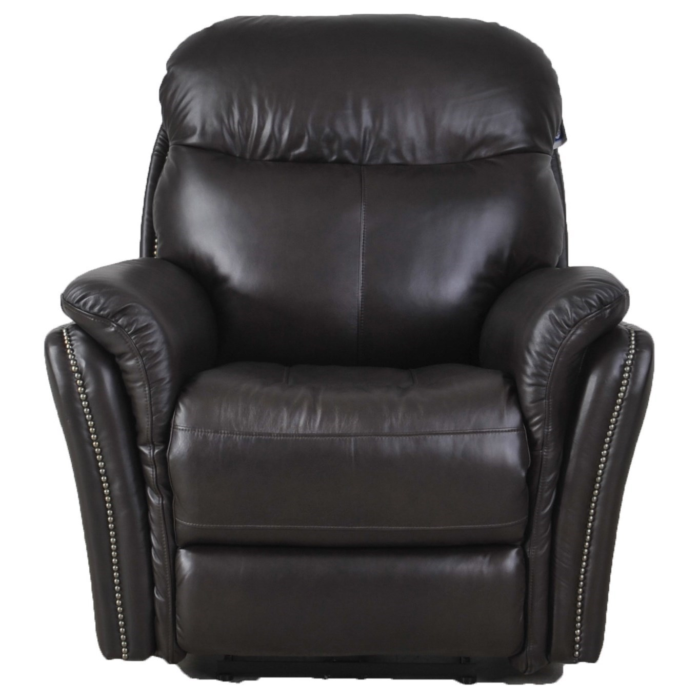Recliner Pillow E1309 Transitional Electric Recliner With Pillow Arms By Futura Leather At Zak S Home